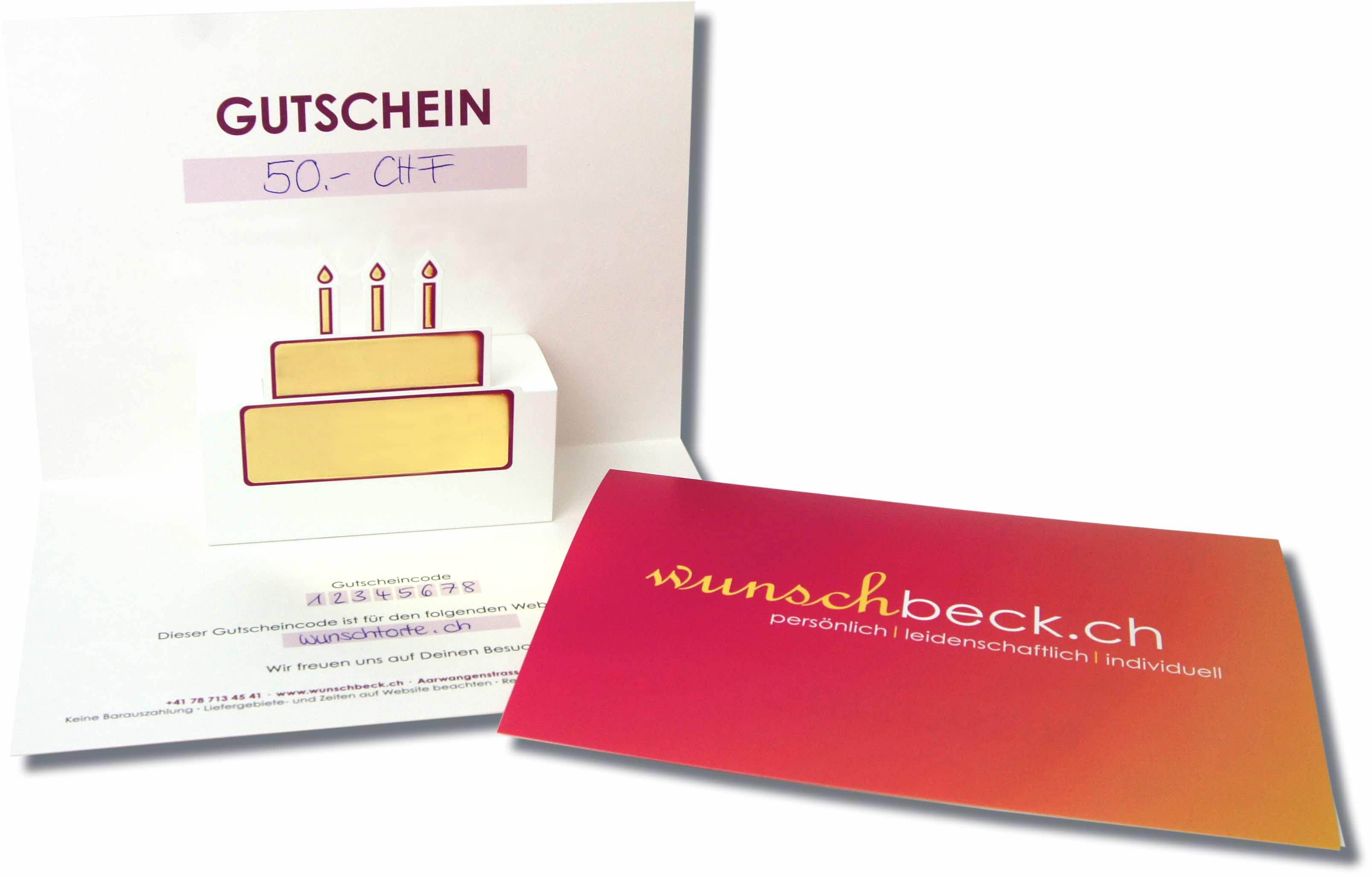 Wunschbeck Gutschein CHF 30.-
